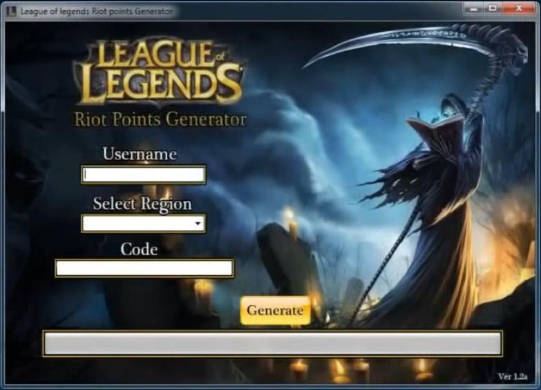 Hacks Games Tools League Of Legends Riot Points Adder