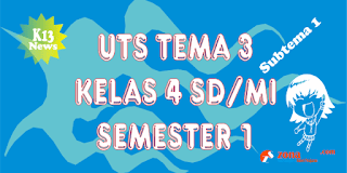 Soal Latihan UTS Kelas 4 Subtema 1 Semester 1 K13