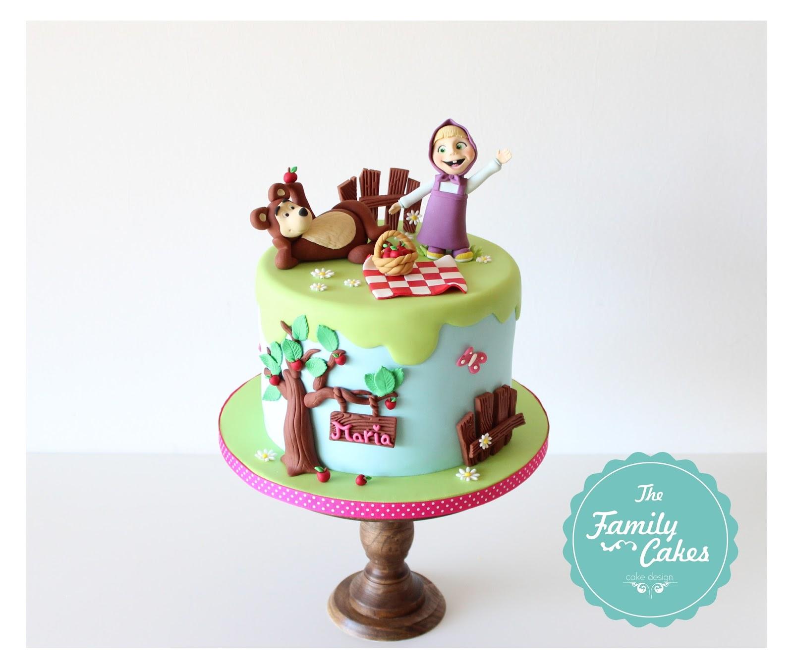 The Family Cakes Bolo Masha E O Urso No Piquenique