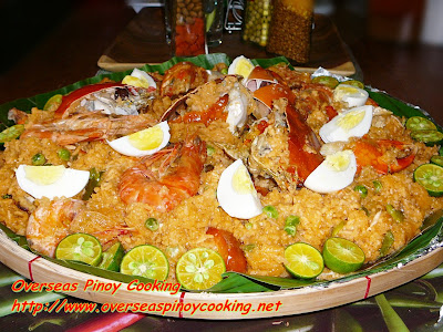 Crabs and Prawns in Aligue Rice