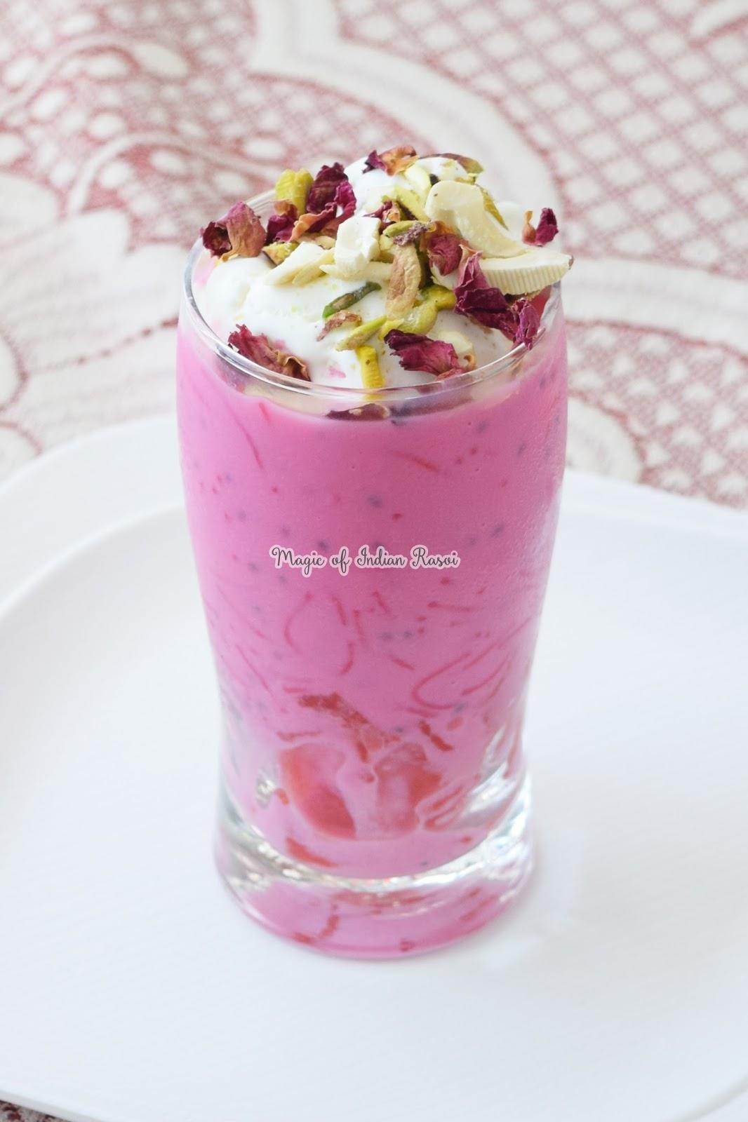 Instant Falooda Mix - Rose Falooda Mix - इंस्टेंट फालूदा मिक्स - रोज़ फालूदा मिक्स रेसिपी - Priya R - Magic of Indian Rasoi