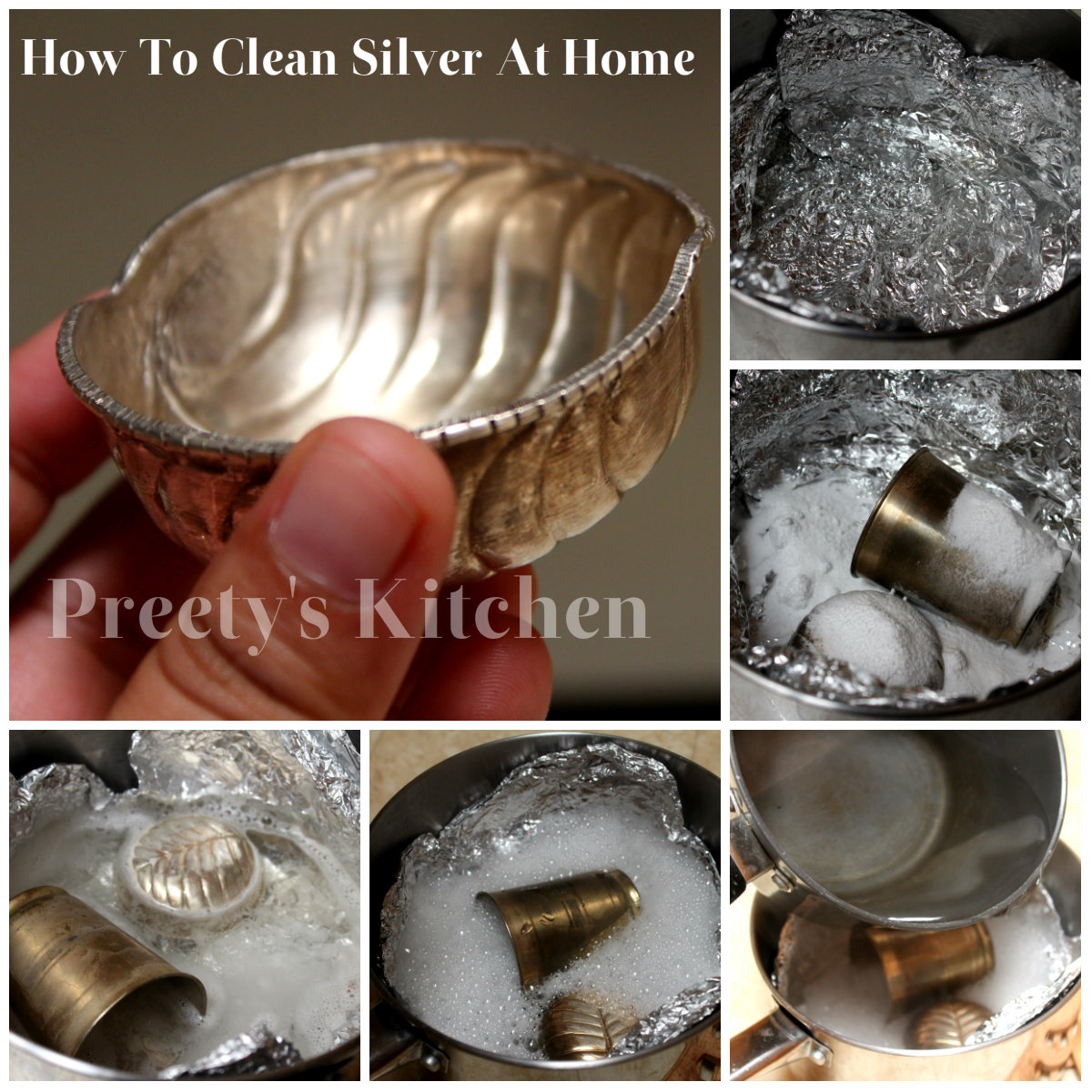 How To Clean Silver At Home Using Natural Cleaners With Pictures Cleaning Tips