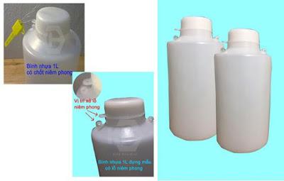 Chai nhựa đựng mẫu có khóa niêm phong