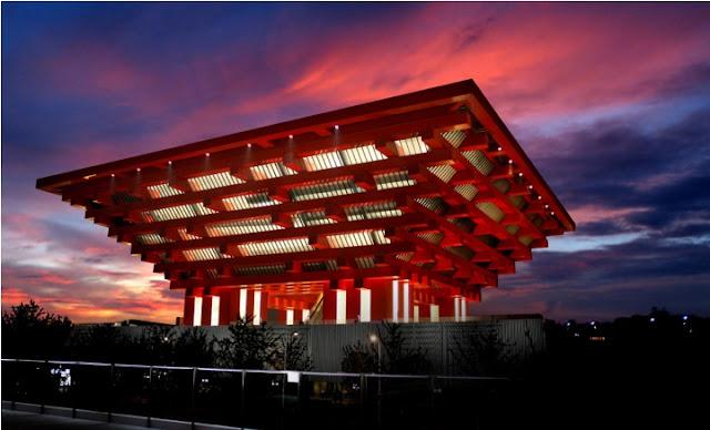 shanghai art museum night