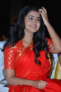 anupama parameswaran new saree stills