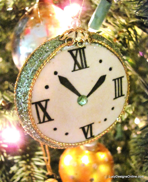 vintage clock Christmas ornament