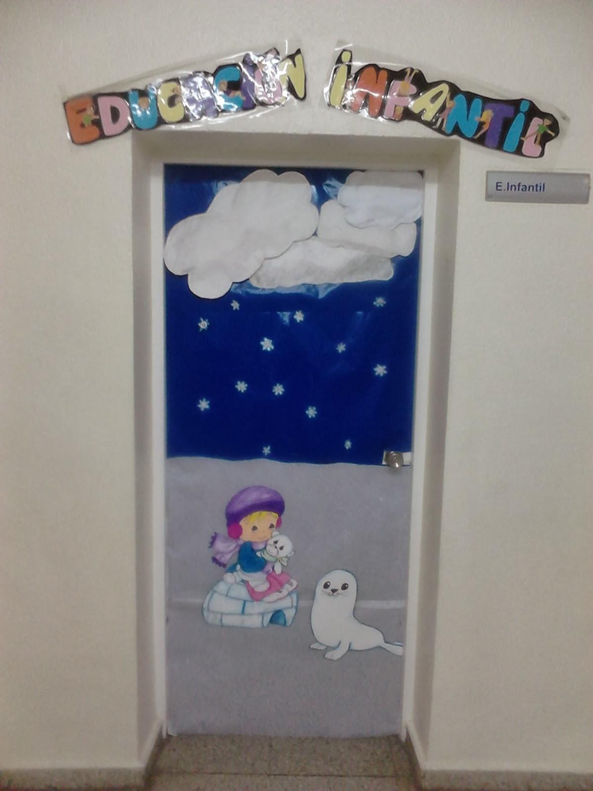 Es invierno for Puertas decoradas educacion infantil