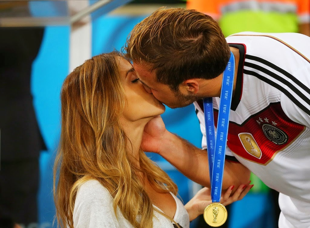 Gotze and Ann-Kathrin Kiss After the World Cup Final