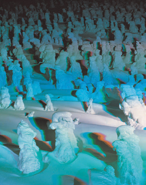 Zao, famous for 'rime on trees,' Snow & Fire Festival, Yamagata Pref.