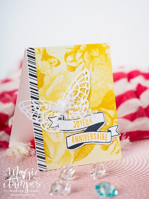 Cartes d'anniversaire exploitant le papier design Stampin' Up!