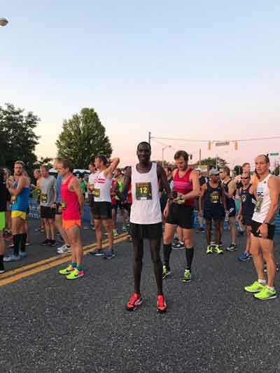 Wilson Komen at the start of the 2017 Parks Half Marathon