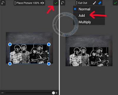 Efek chalk Kapur dengan PicSay Pro Android