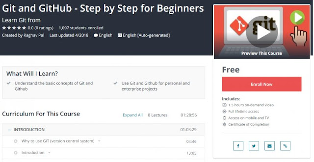 [100% Free] Git and GitHub - Step by Step for Beginners