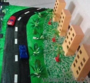 Messykids Projects: Road view with Apartments