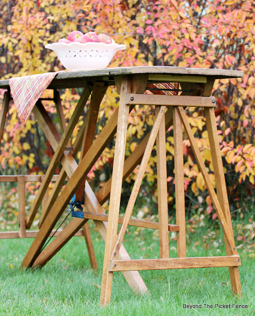 Make a Table with Vintage Wood Ironing Boards