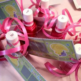 nail polish baby shower favors