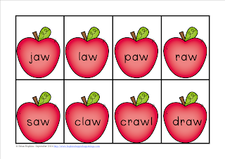 FREEBIE Apples Aw/Au Word Sort