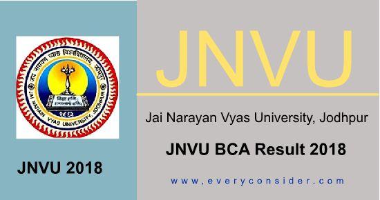 JNVU Bca 1st, 2nd, 3rd year Result 2019
