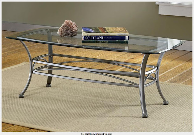 Iron And Glass Coffee Table Picture