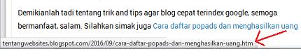 Cara memperbaiki kesalahan url artikel pada webmaster yang tepat