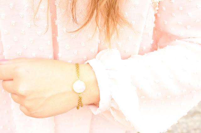 blouse plumetis rose zara