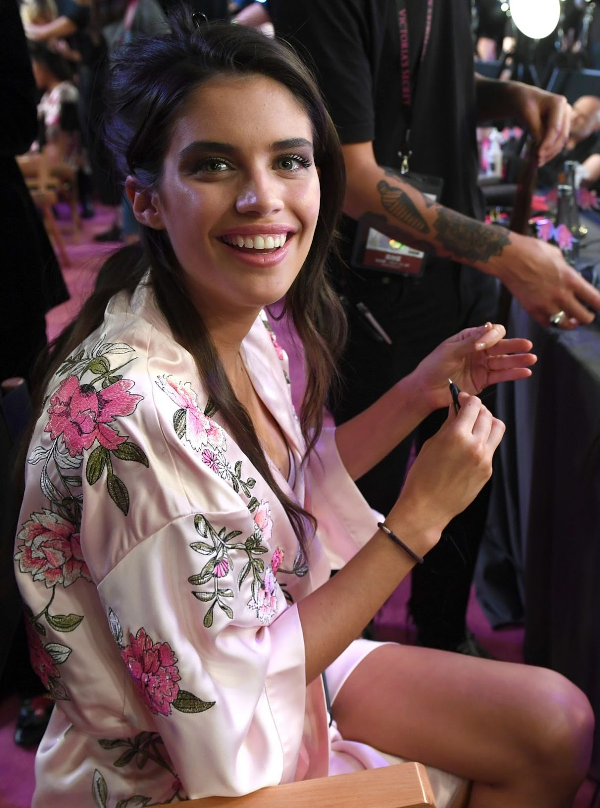 Sara Sampaio on the Backstage at 2017 Victoria's Secret Fashion Show in Shanghai