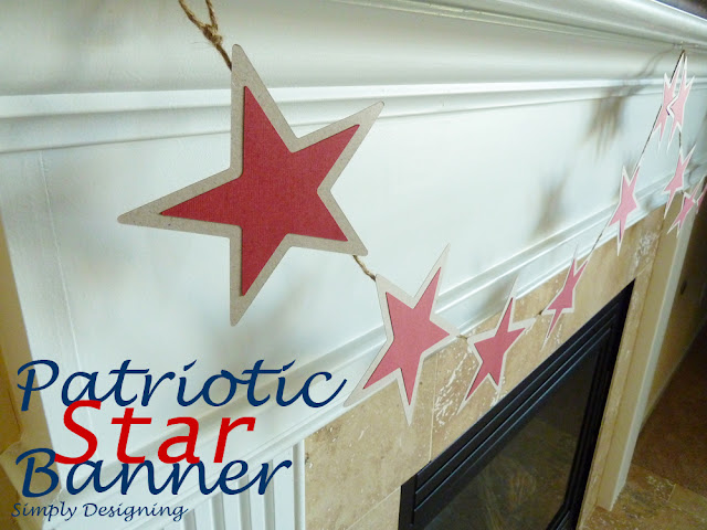 Star Banner @SimplyDesigning #patriotic #4thofJuly #MemorialDay #holiday #sillhouette #stars #star #banner #garland