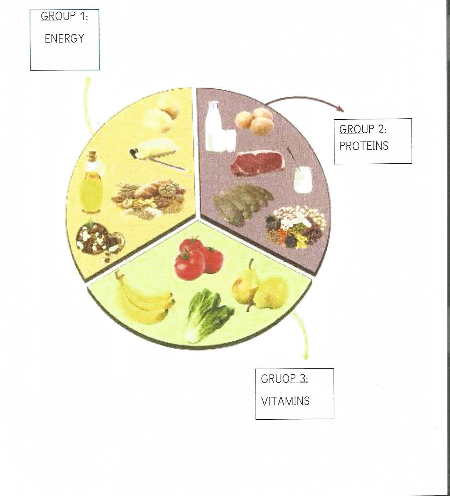 Imagenes de los 3 grupos alimenticios