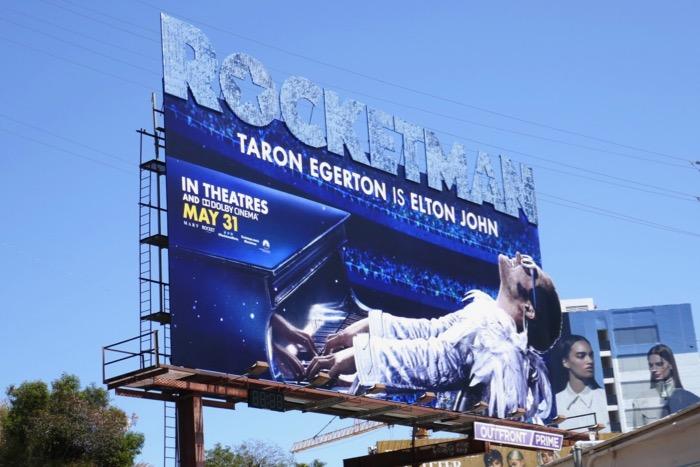 Rocketman movie extension billboard