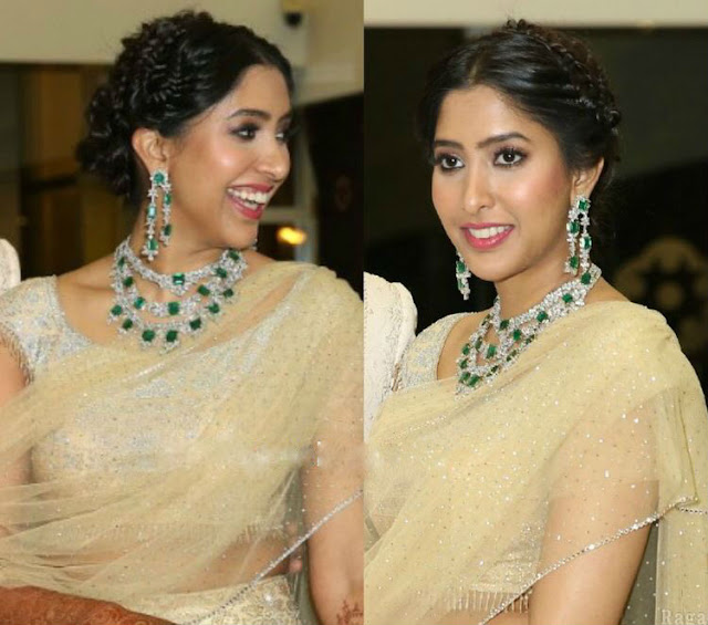 Shriya Bhupal in Three Layer Diamond Set