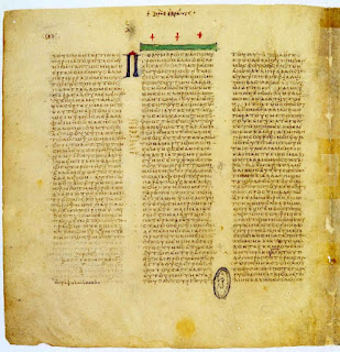 One of the oldest documents in the Vatican Library is the Codex Vaticanus, a fourth century text of the Greek bible