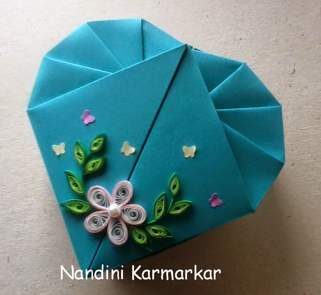Paint Paper Scissors: Origami Heart Box - Snehal's ... - photo#17