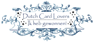 Winnaar bij Dutch card lovers okt 18