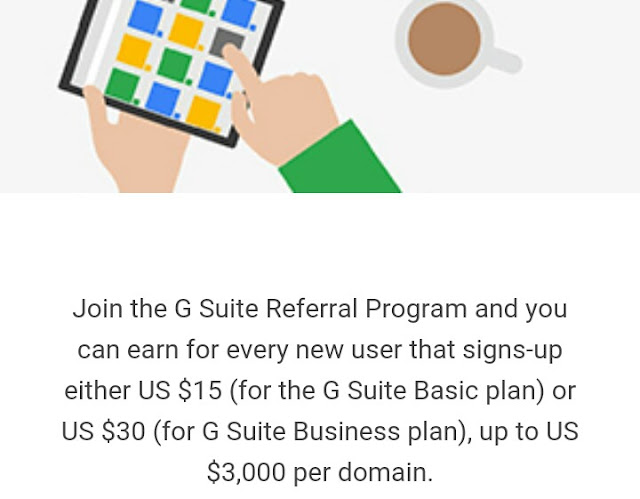 G suite referral, make money online with google