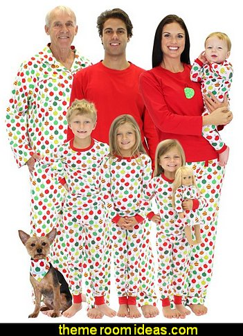 Sleepytime Pjs  Family Matching Pajamas Christmas Ornaments