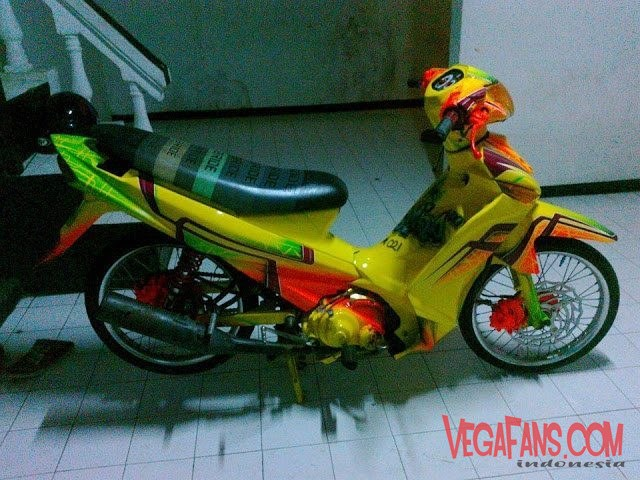 Vega ZR Modif Simple Kuning