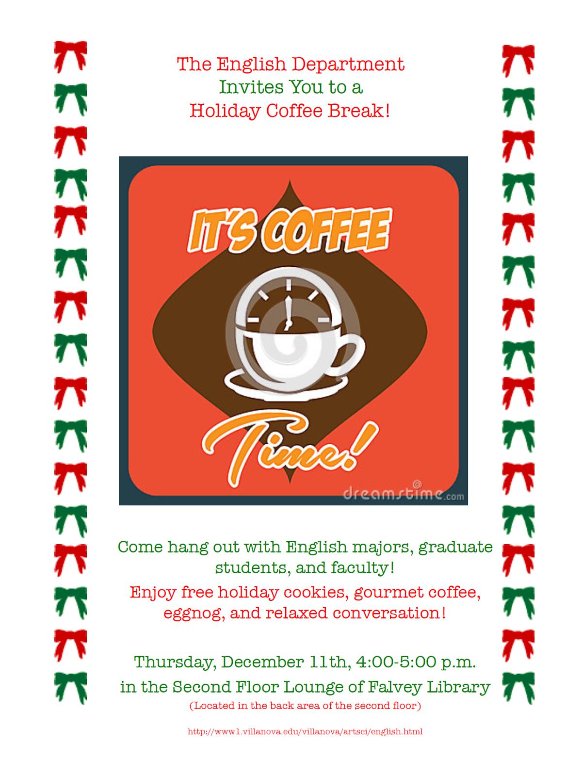 the yawp villanova s graduate english program blog  holiday coffee break thursday 11