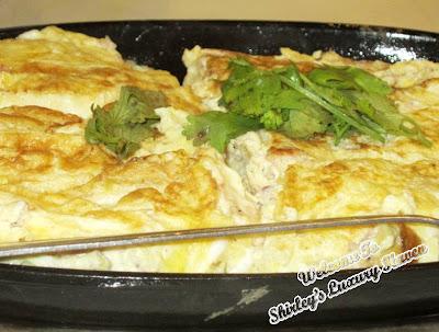 cincalok omlette at restoran atlantic 1 melaka