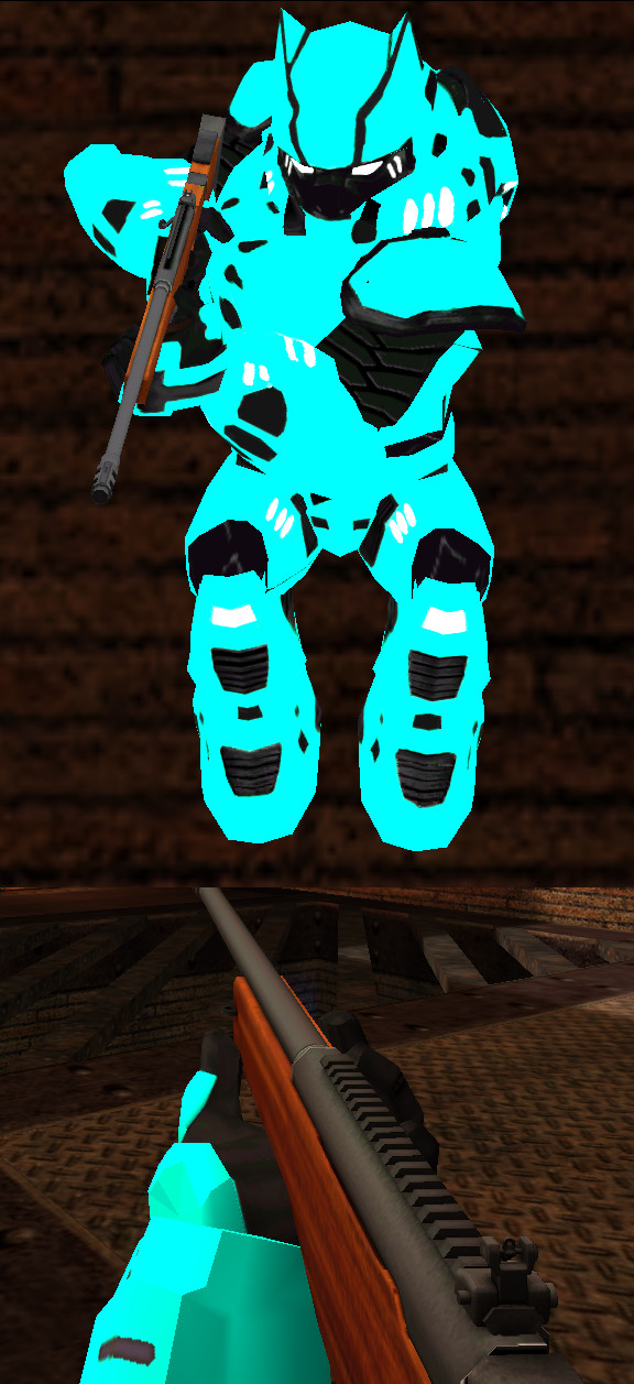 Cyan with white