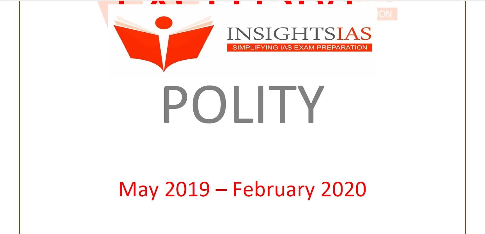 Insights IAS Polity