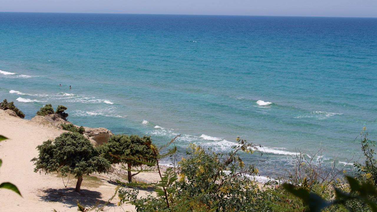 Traumhafter Strand auf dem Kefalos auf der Insel Kos, Griechenland
