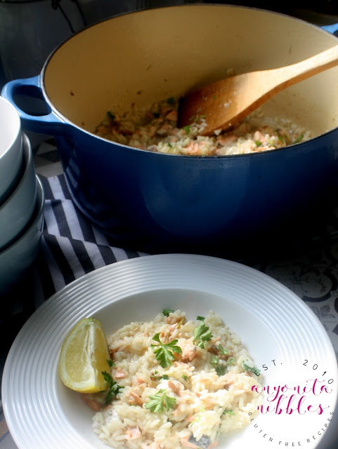 Salmon Rice Pilaf Dish