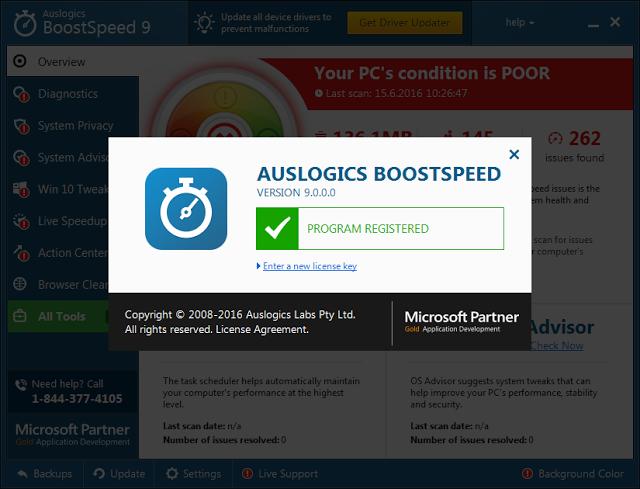 Auslogics BoostSpeed 9.1.1.0 Crack Serial Key Full Version