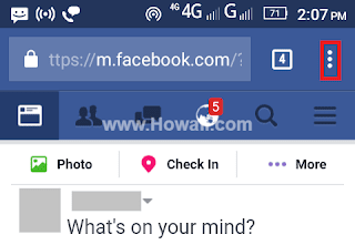 How to open Facebook full site desktop version on Android phone