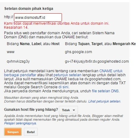 Kesalahan 14 Pada Setting Domain .ID