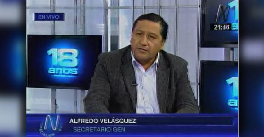 Hay dirigentes que «han venido engañando al magisterio», sostiene Alfredo Velásquez, secretario general del SUTEP [VIDEO]