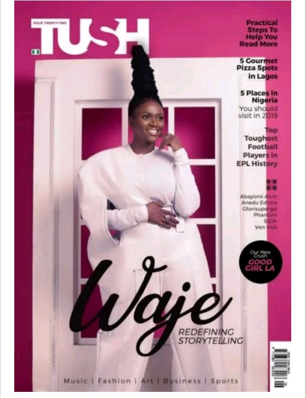 Waje Serves Major Gorgeousness on the Cover of Tush Magazine's Latest Issue