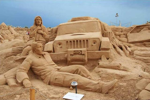 Esculturas de areia no Algarve