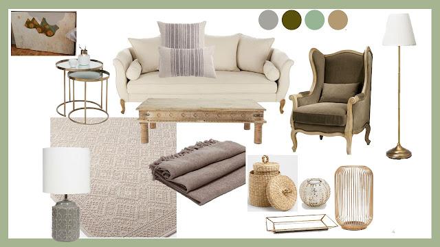 diseño de salón clásico y natural