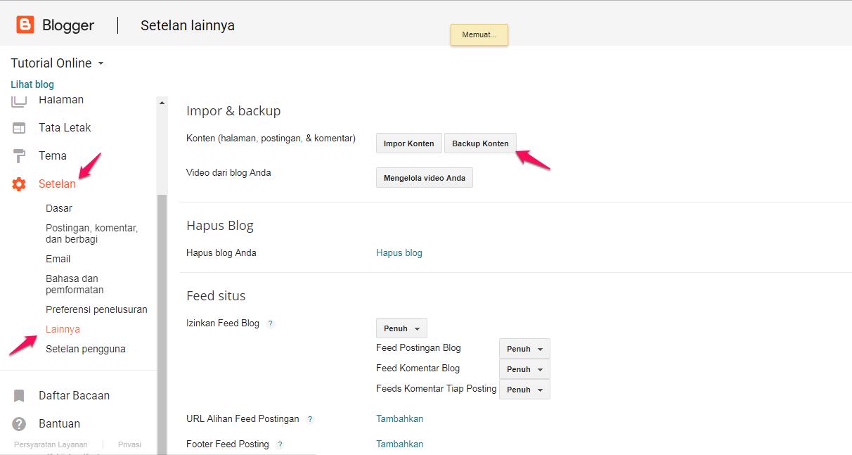 Backup dan Restore Konten Postingan Blogger